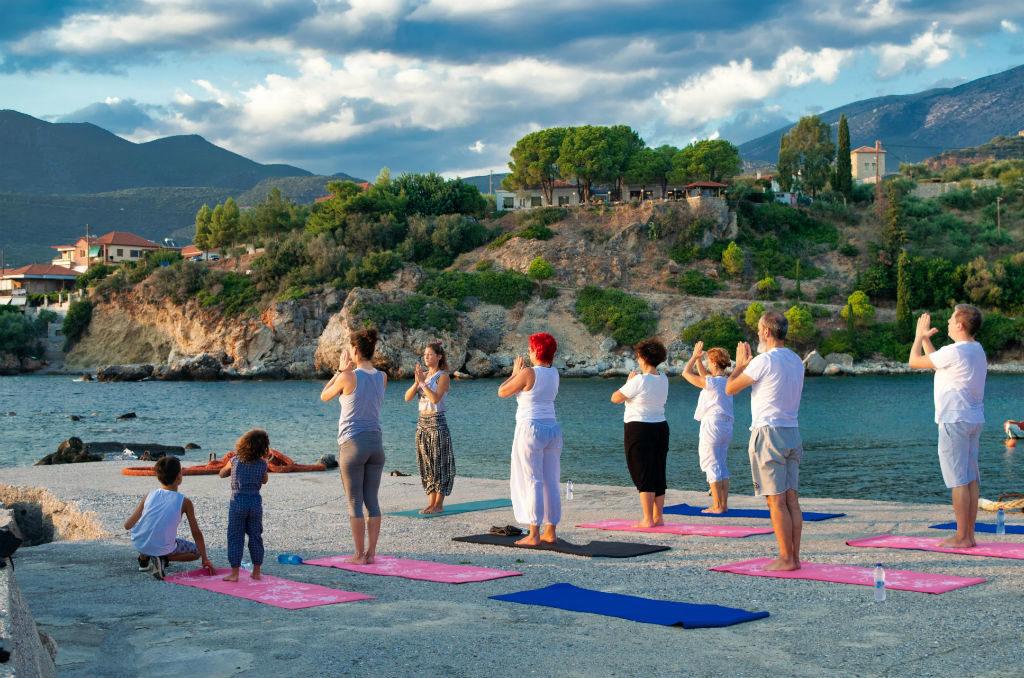 Dom w Grecji Peloponez joga Kardamyli