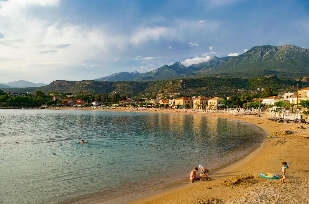 Dom w Grecji Peloponez strand Stoupa
